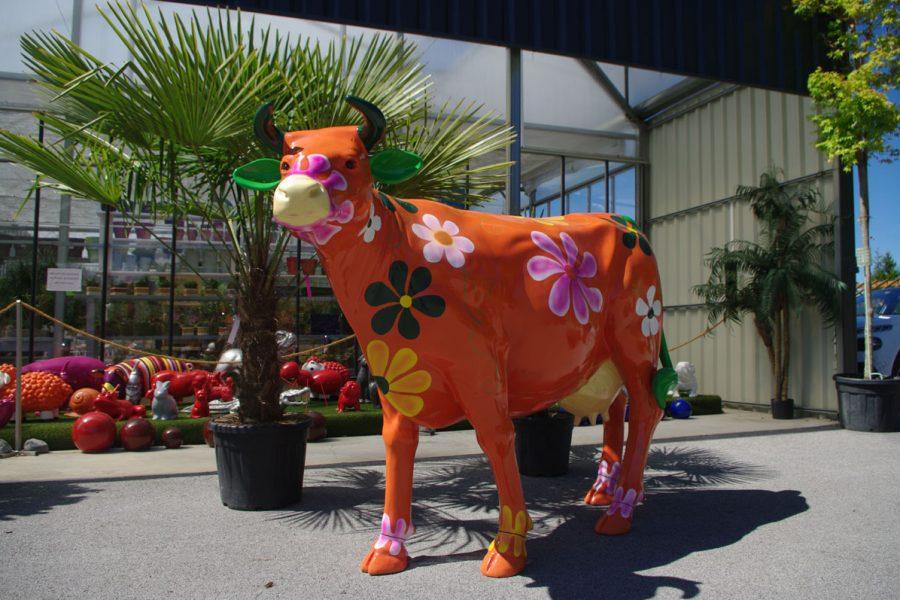 vache animaux en resine